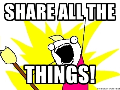 share all the things!