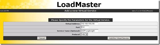kemp-addvirtualservice